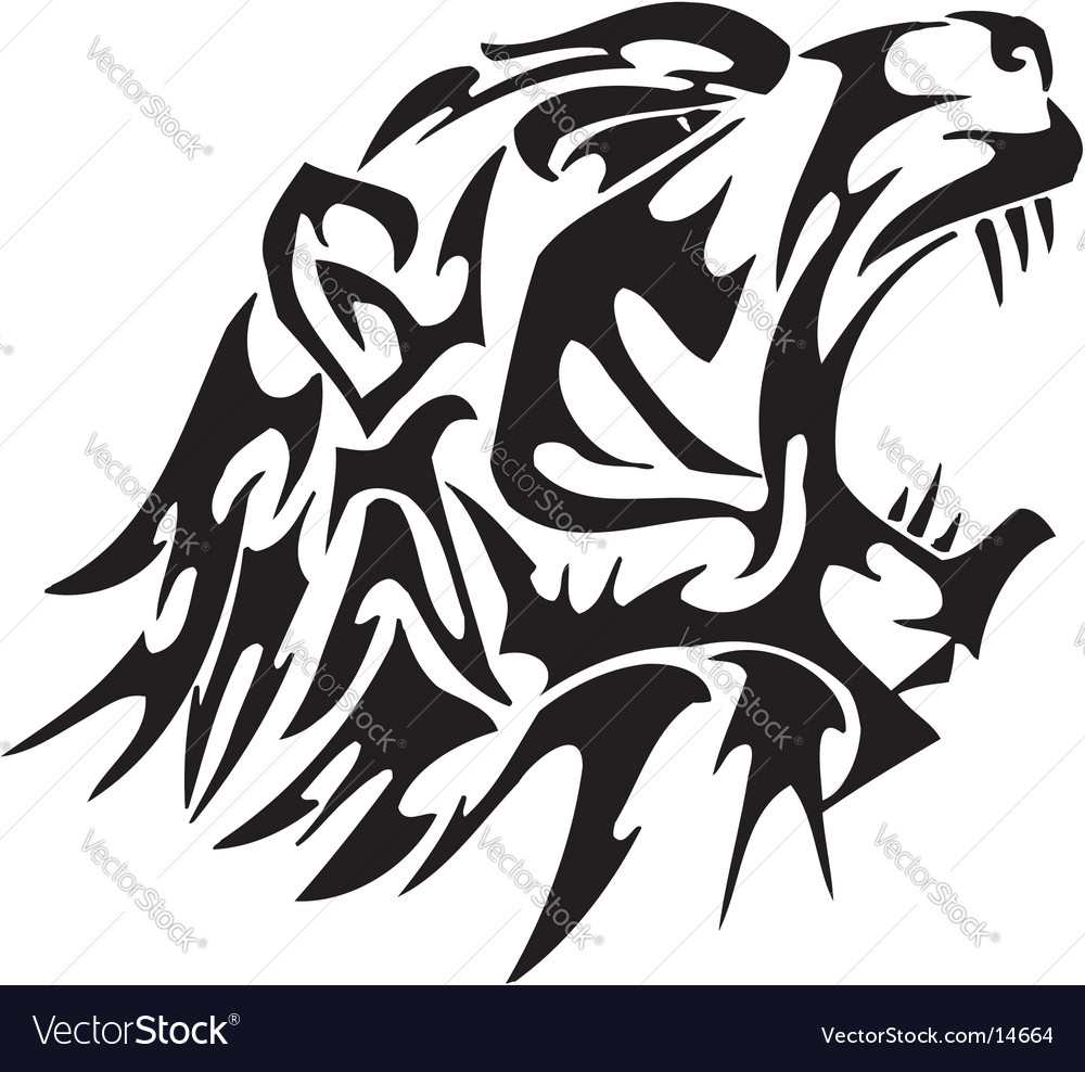 Flaming animal vector