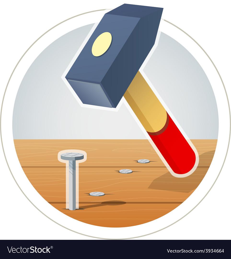 Hammer and nail vector | Price: 3 Credit (USD $3)