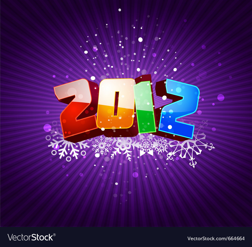 Happy new 2012 year greeting card vector | Price: 1 Credit (USD $1)