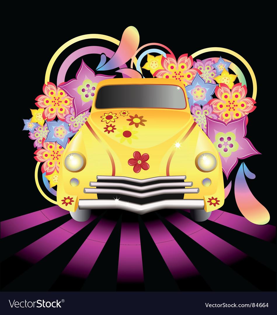 Hippy car vector   Price: 1 Credit (USD $1)