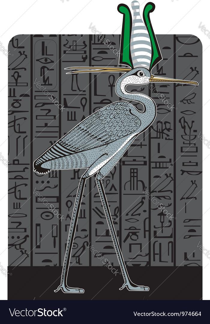 Ibis on dark egypt background vector   Price: 1 Credit (USD $1)