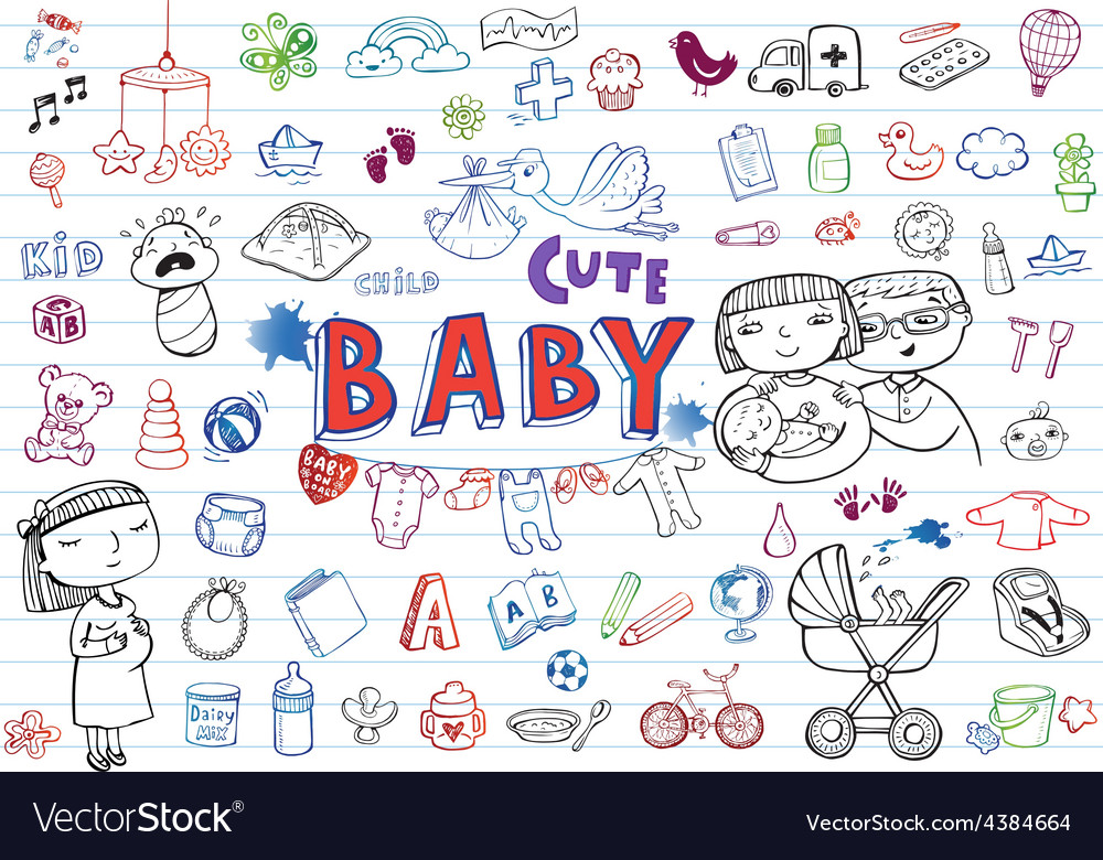 Infant icon set vector | Price: 1 Credit (USD $1)