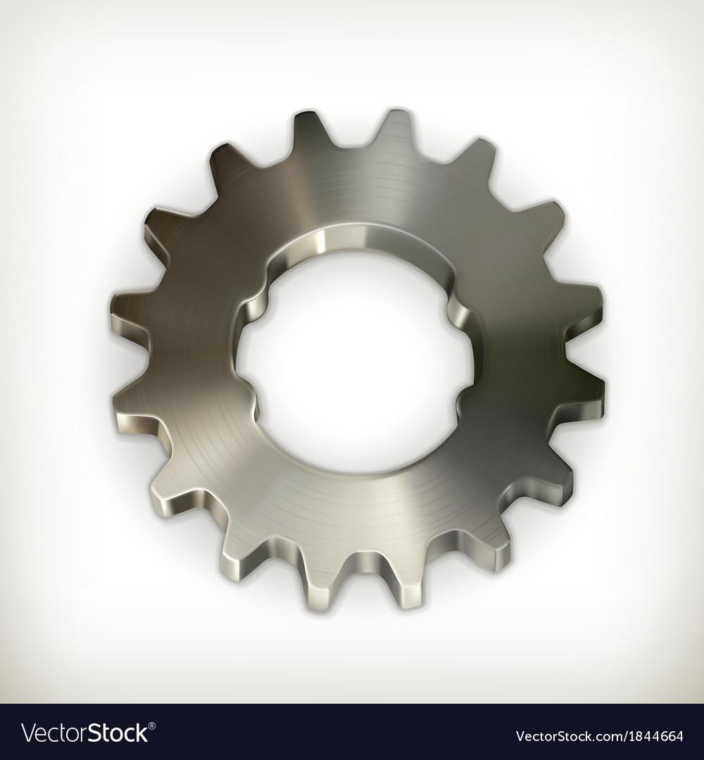 Metal gear icon vector | Price: 1 Credit (USD $1)