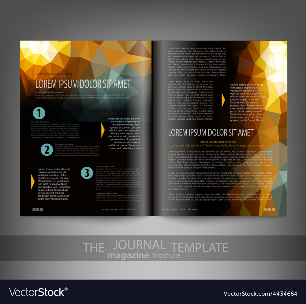 Template print edition of the journal vector | Price: 1 Credit (USD $1)