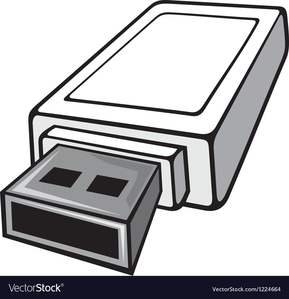 Usb flash memory vector | Price: 3 Credit (USD $3)