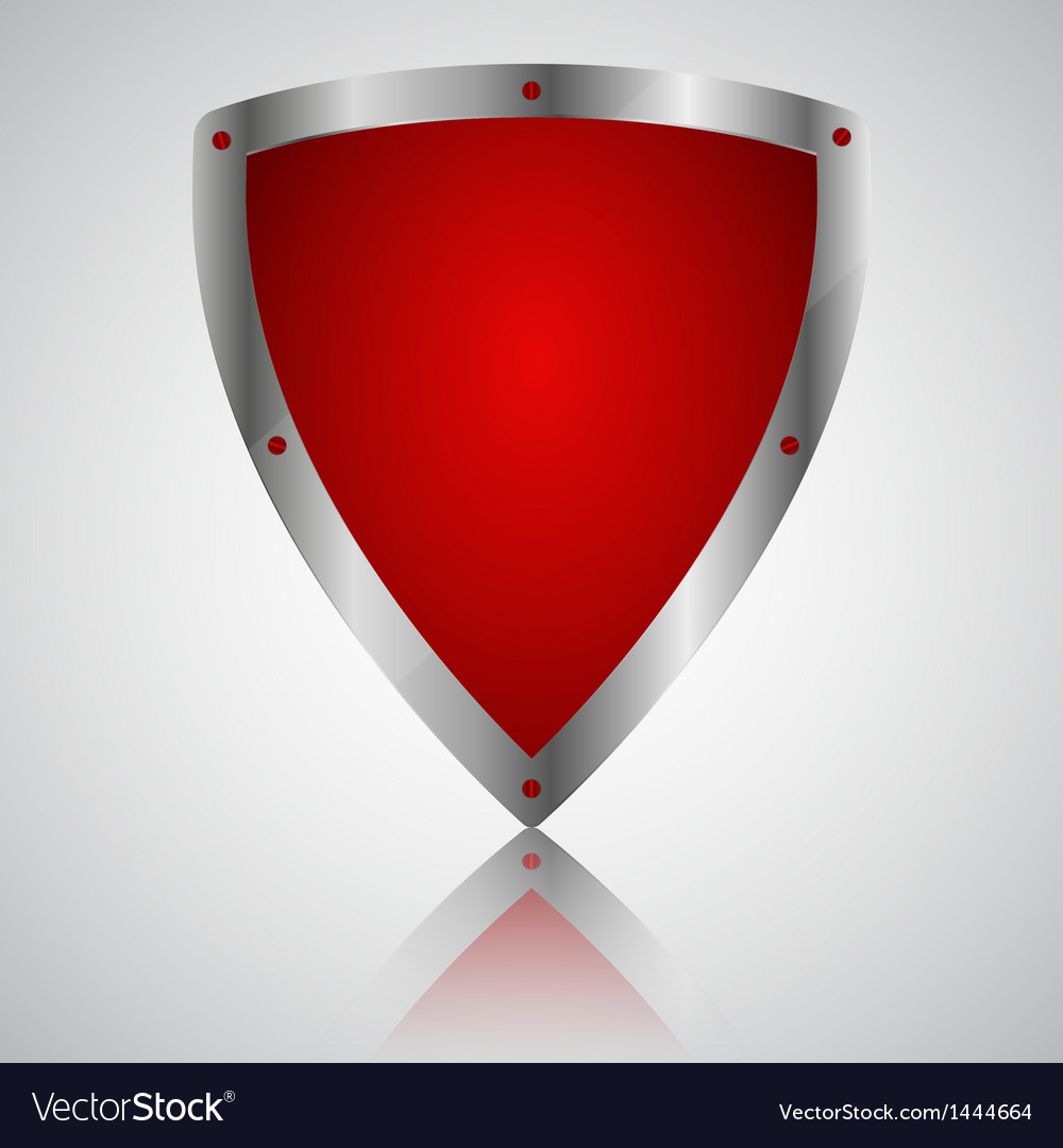 Victory red shield symbol icon vector | Price: 1 Credit (USD $1)