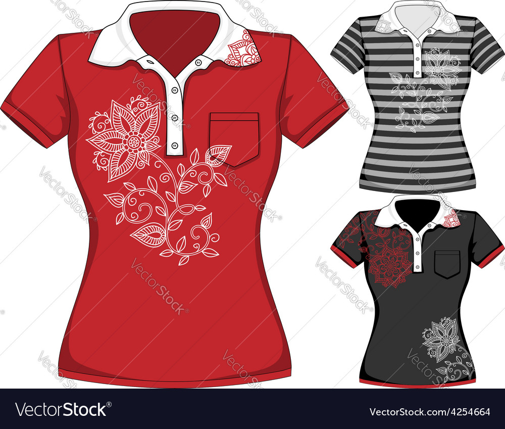 Womens short sleeve t-shirt design vector | Price: 1 Credit (USD $1)