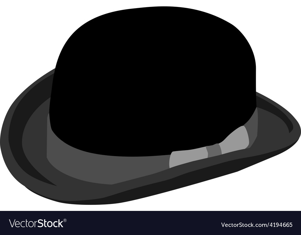 Black bowler hat vector | Price: 1 Credit (USD $1)