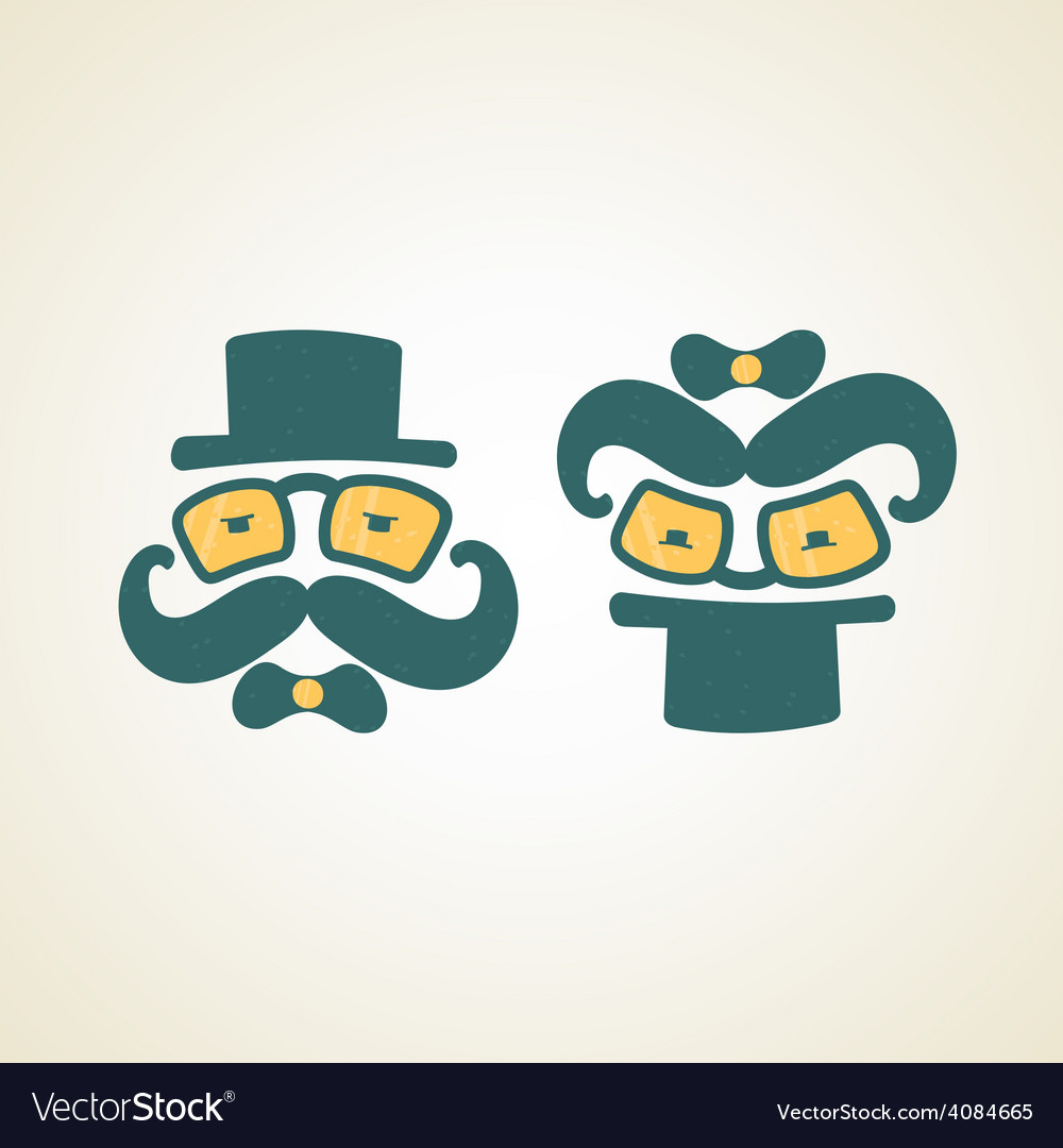 Businessman and baby logo vector | Price: 1 Credit (USD $1)