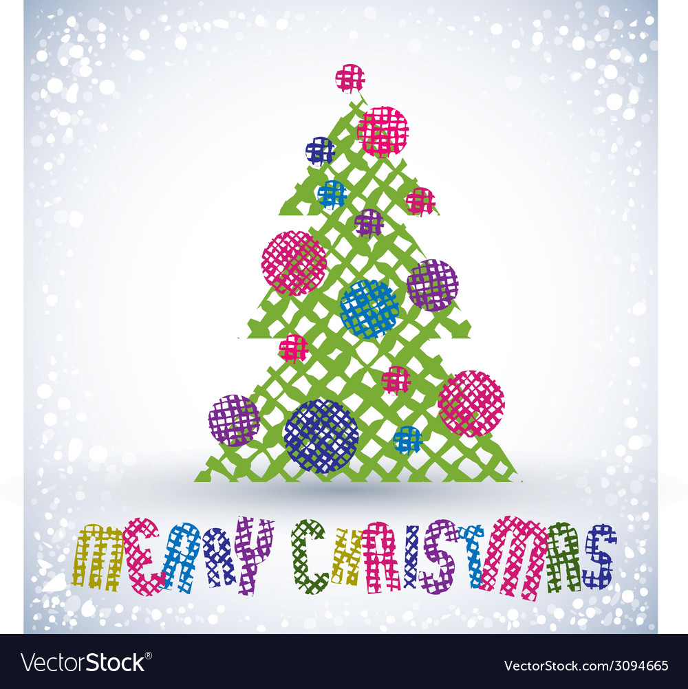 Christmas greeting card with special font and hand vector | Price: 1 Credit (USD $1)