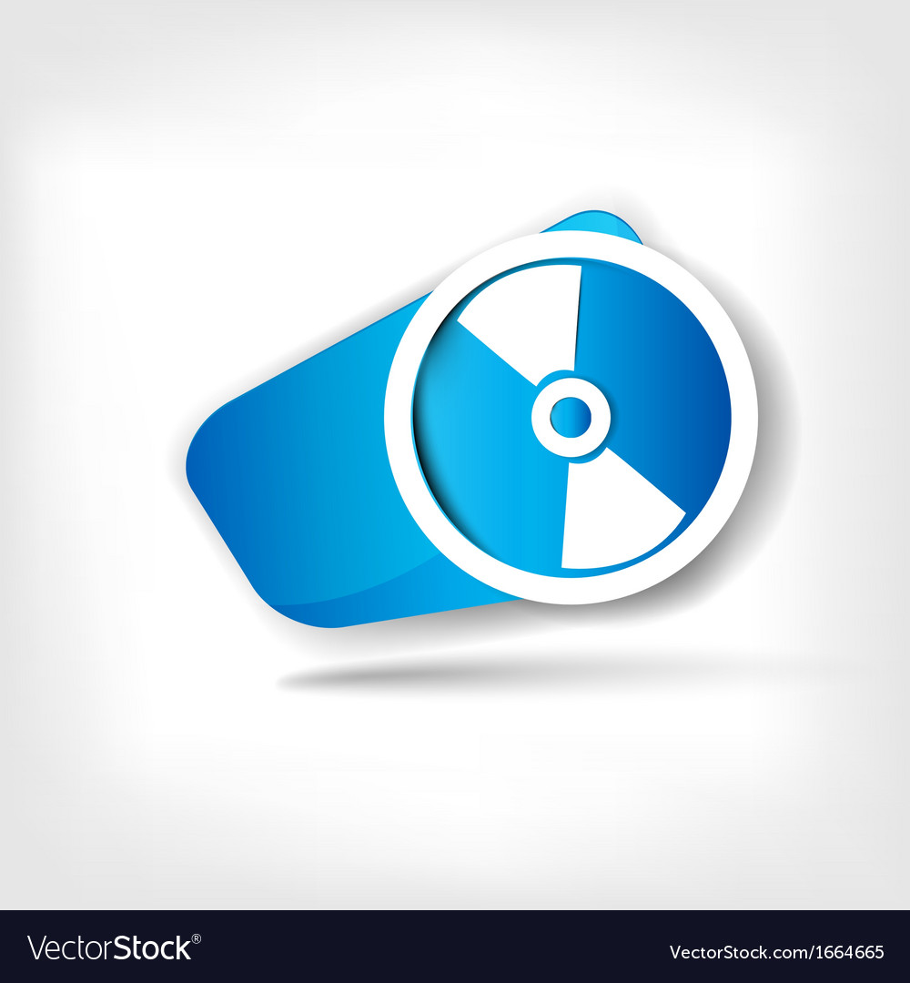 Compact disk web icon vector | Price: 1 Credit (USD $1)