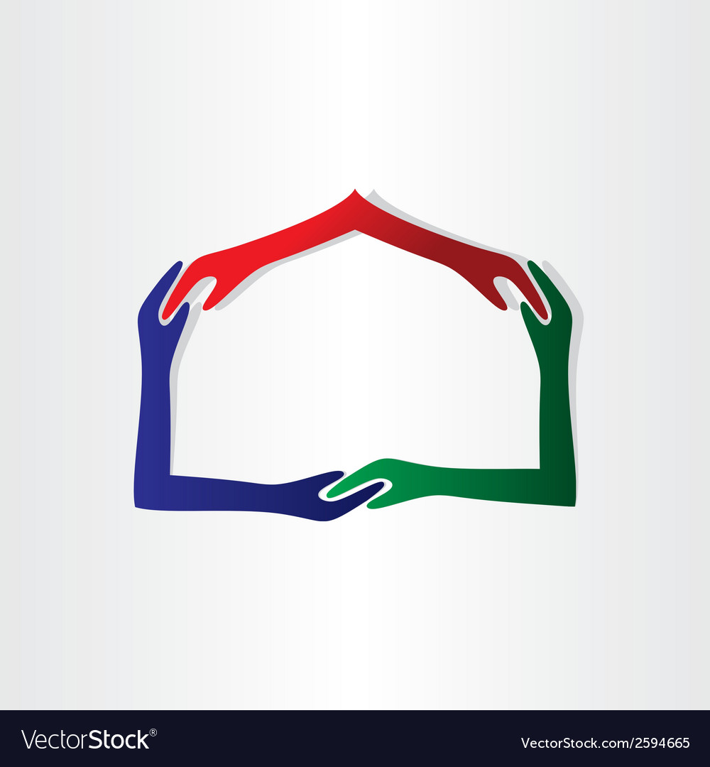 Human hands house friendship vector | Price: 1 Credit (USD $1)