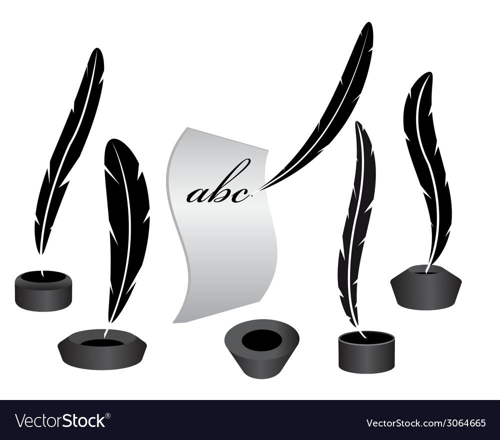 Inkwells vector | Price: 1 Credit (USD $1)