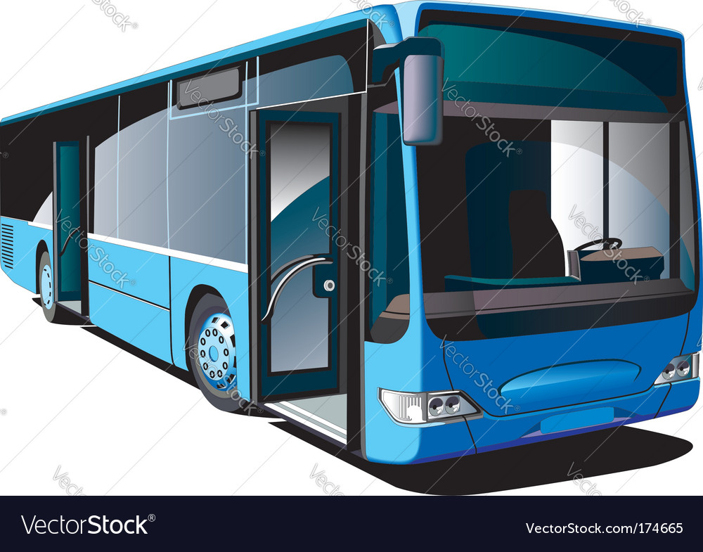 Modern bus vector | Price: 3 Credit (USD $3)