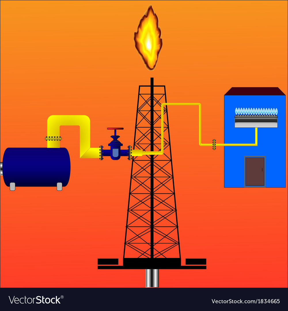 Natural gas vector | Price: 1 Credit (USD $1)