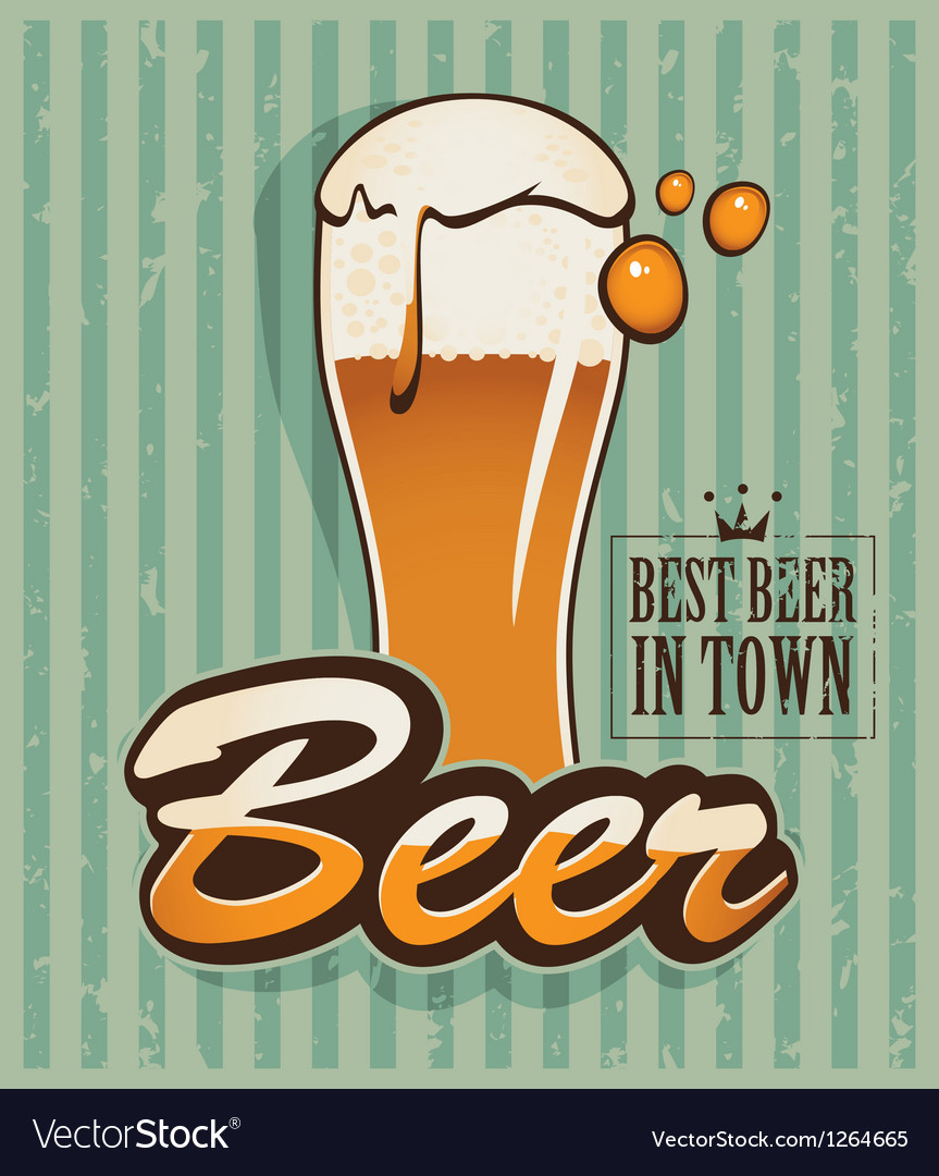 Retro beer vector | Price: 1 Credit (USD $1)