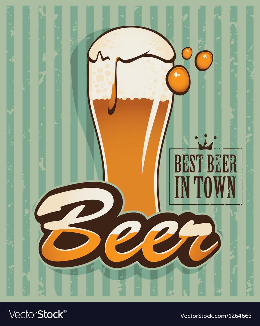 Retro beer vector | Price: 1 Credit (USD $1)