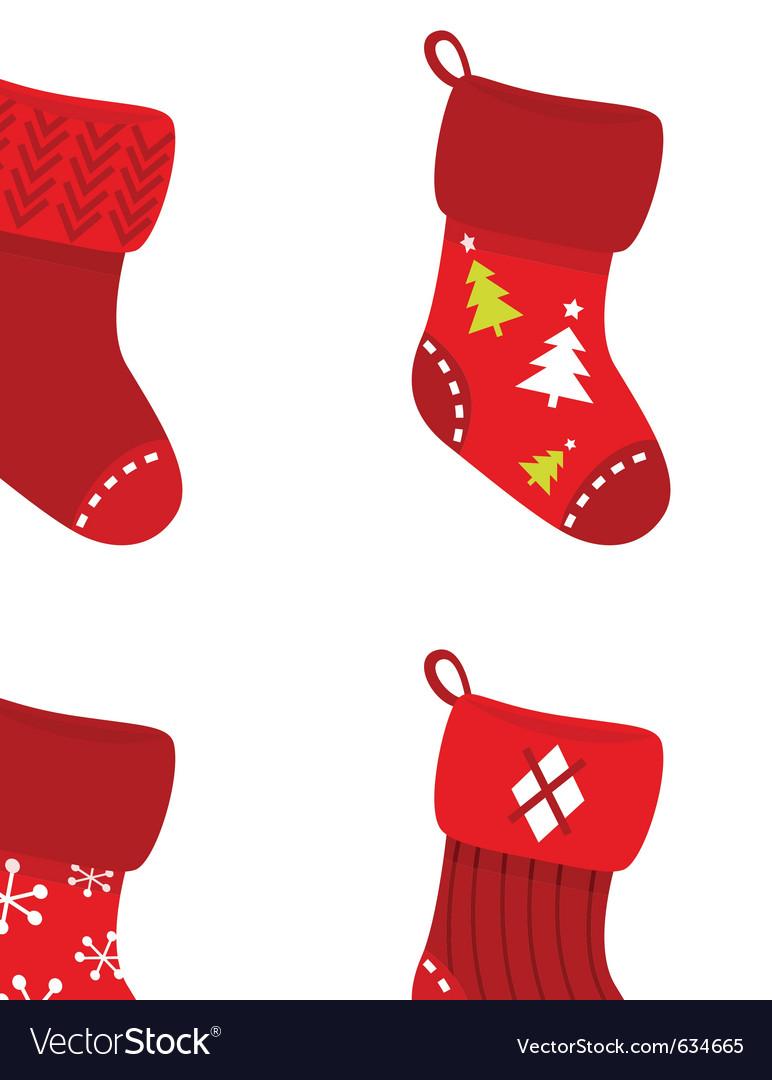 Retro christmas socks vector | Price: 1 Credit (USD $1)