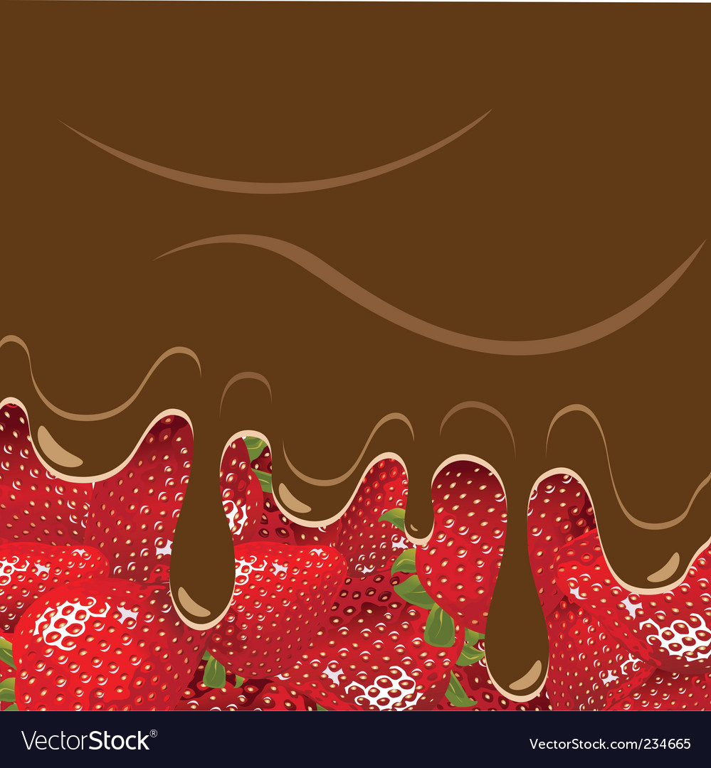 Strawberry and chocolate vector | Price: 3 Credit (USD $3)