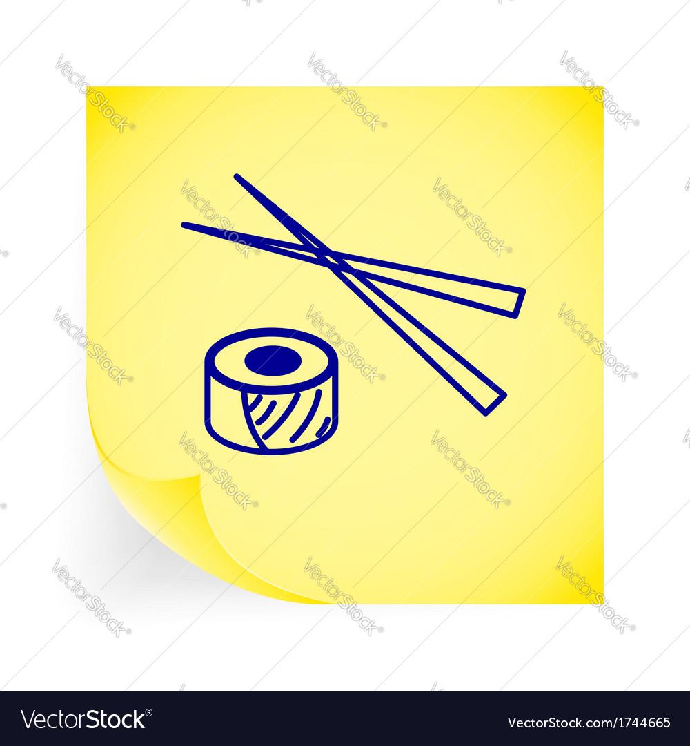 Sushi icon vector | Price: 1 Credit (USD $1)