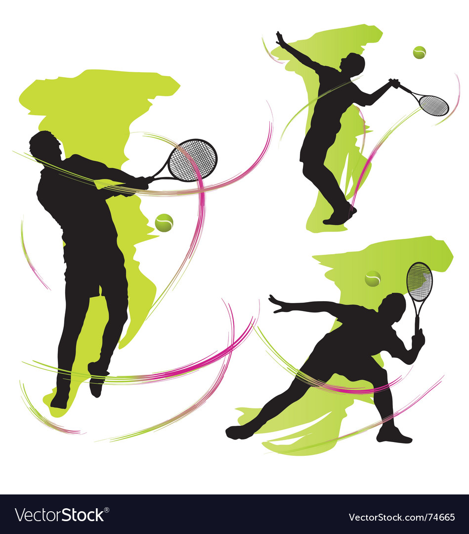 Tennis graphics vector | Price: 1 Credit (USD $1)