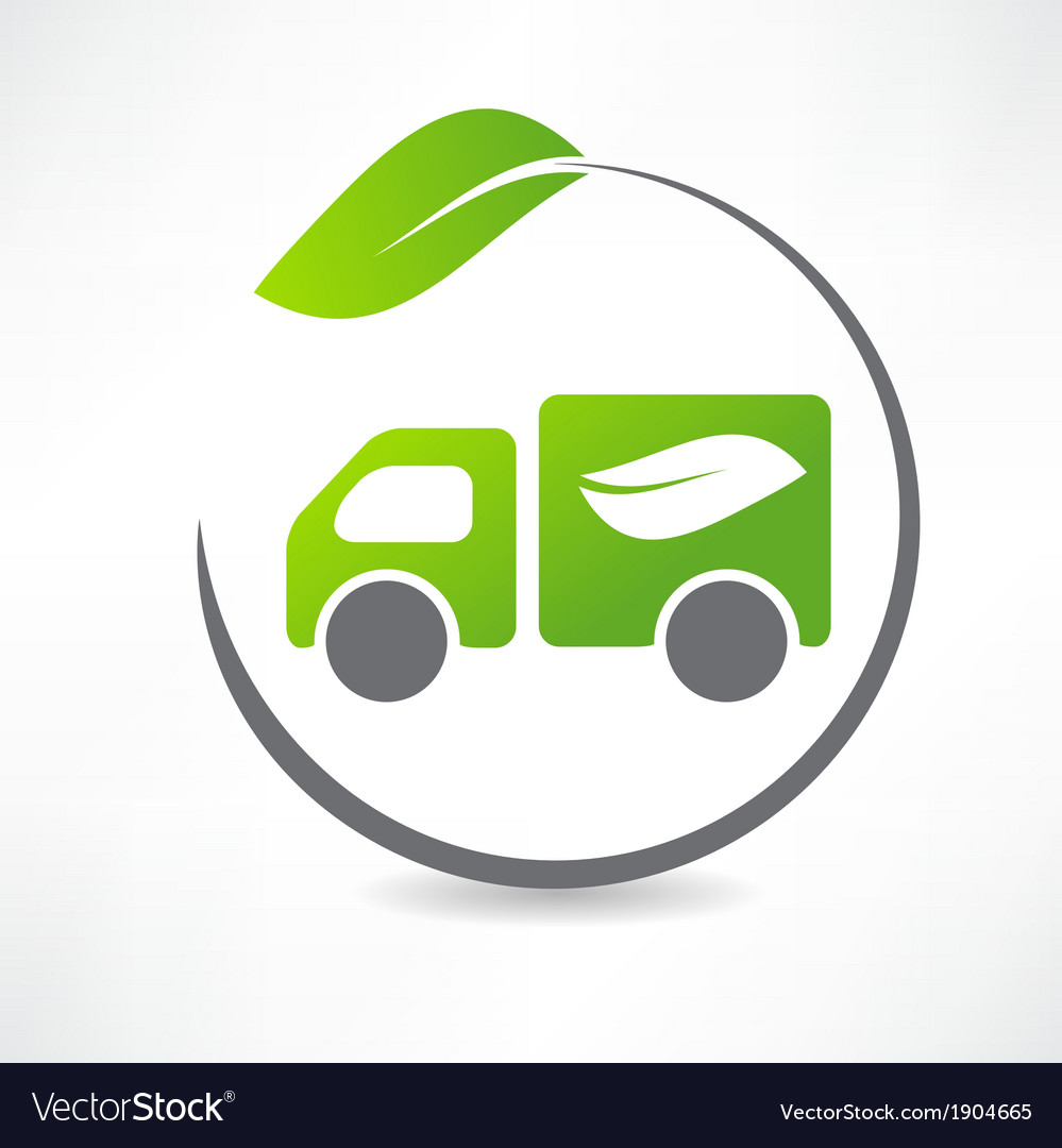 Truck leaf icon vector | Price: 1 Credit (USD $1)