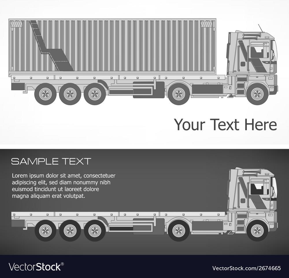 Truck vector | Price: 1 Credit (USD $1)
