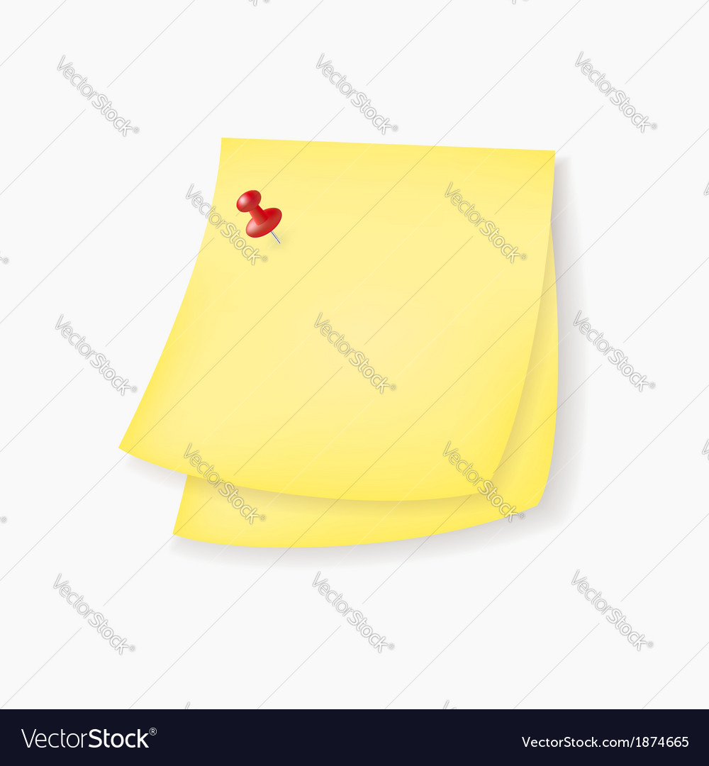 Yellow paper notes vector | Price: 1 Credit (USD $1)