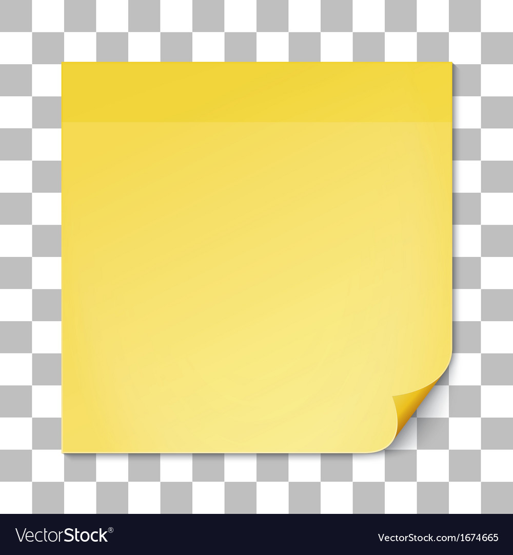 Yellow stick note on transparent texture backdrop vector | Price: 1 Credit (USD $1)