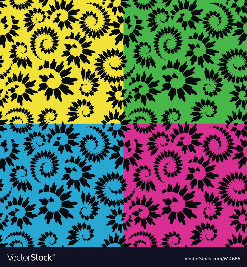 Abstract seamless floral vector | Price: 1 Credit (USD $1)