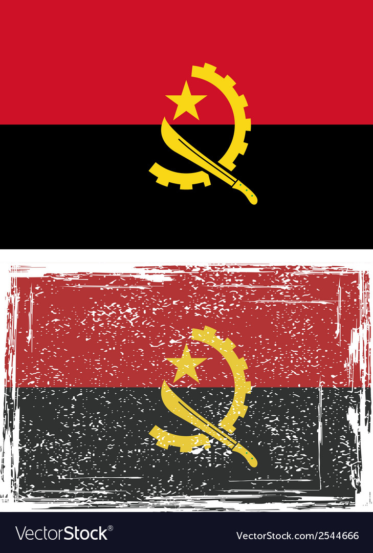 Angolan grunge flag vector | Price: 1 Credit (USD $1)