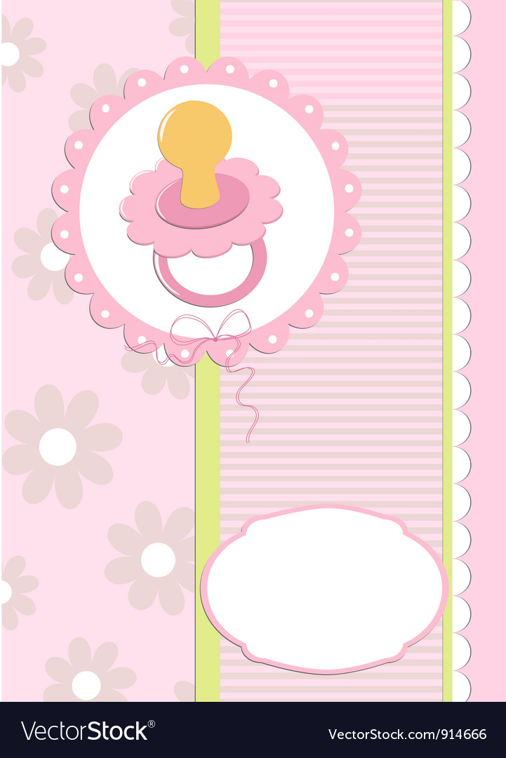 Babys greetings card with dummy vector | Price: 1 Credit (USD $1)
