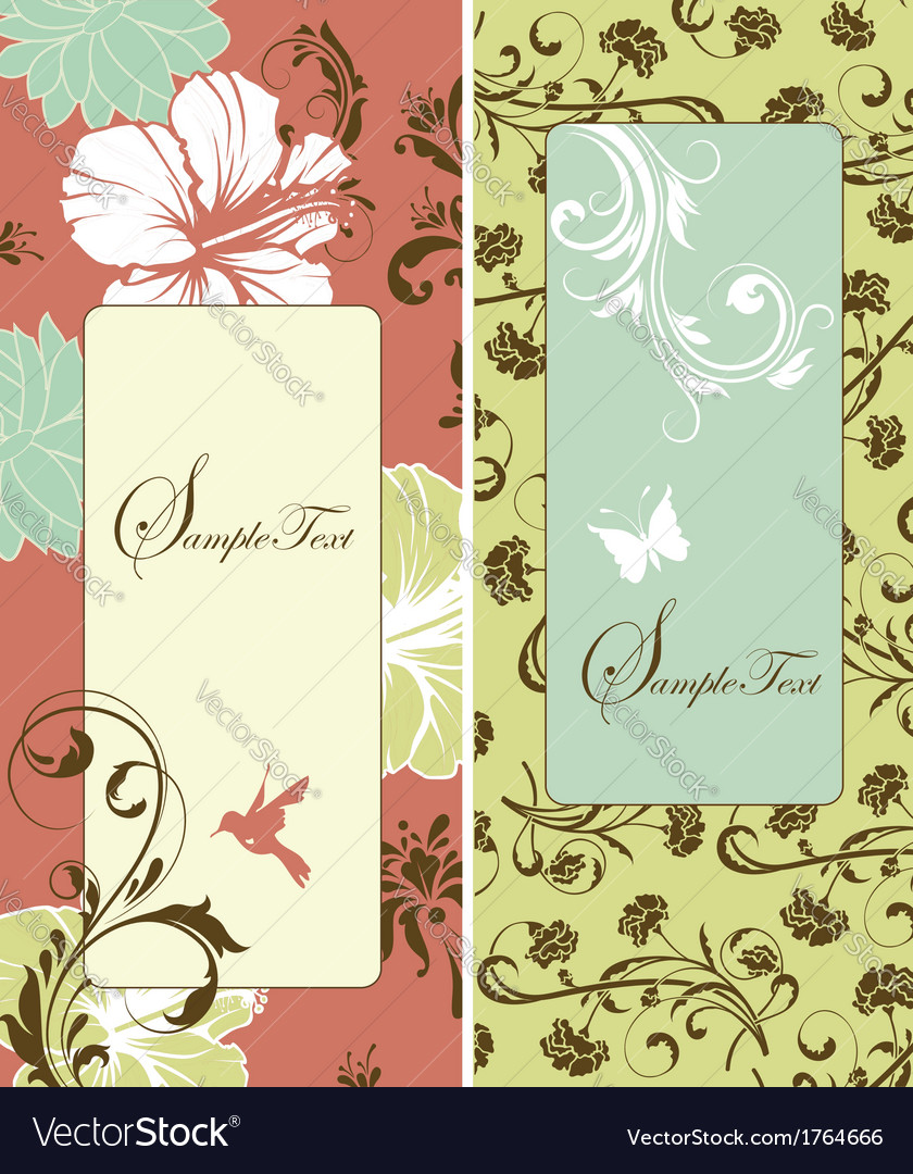 Cute retro banners vector | Price: 1 Credit (USD $1)