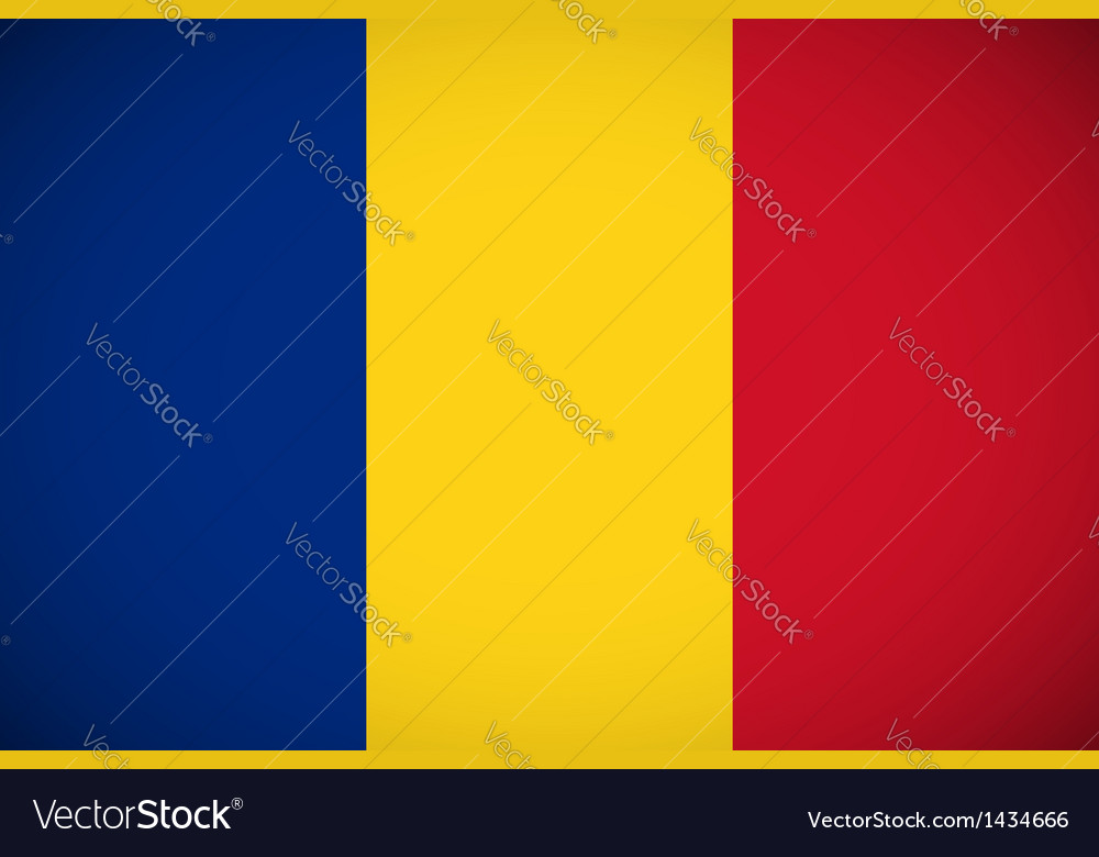 National flag of romania vector | Price: 1 Credit (USD $1)