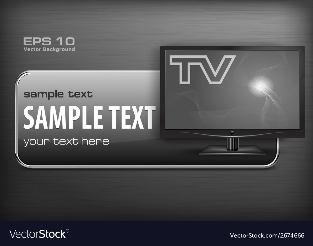 Promotion banner  tv vector | Price: 1 Credit (USD $1)