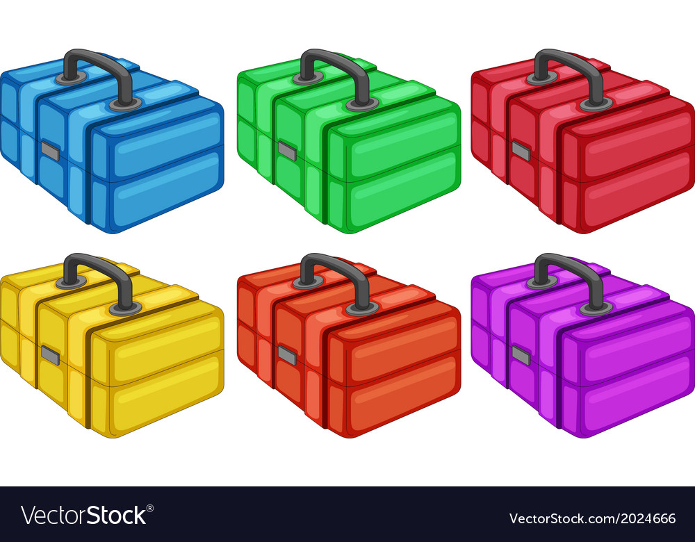 Six colorful boxes vector | Price: 1 Credit (USD $1)