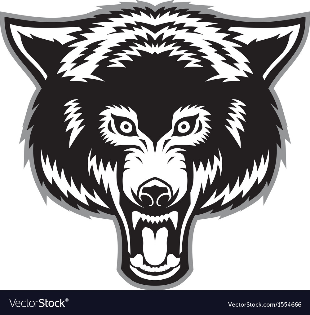 Wolf head mascot vector | Price: 1 Credit (USD $1)