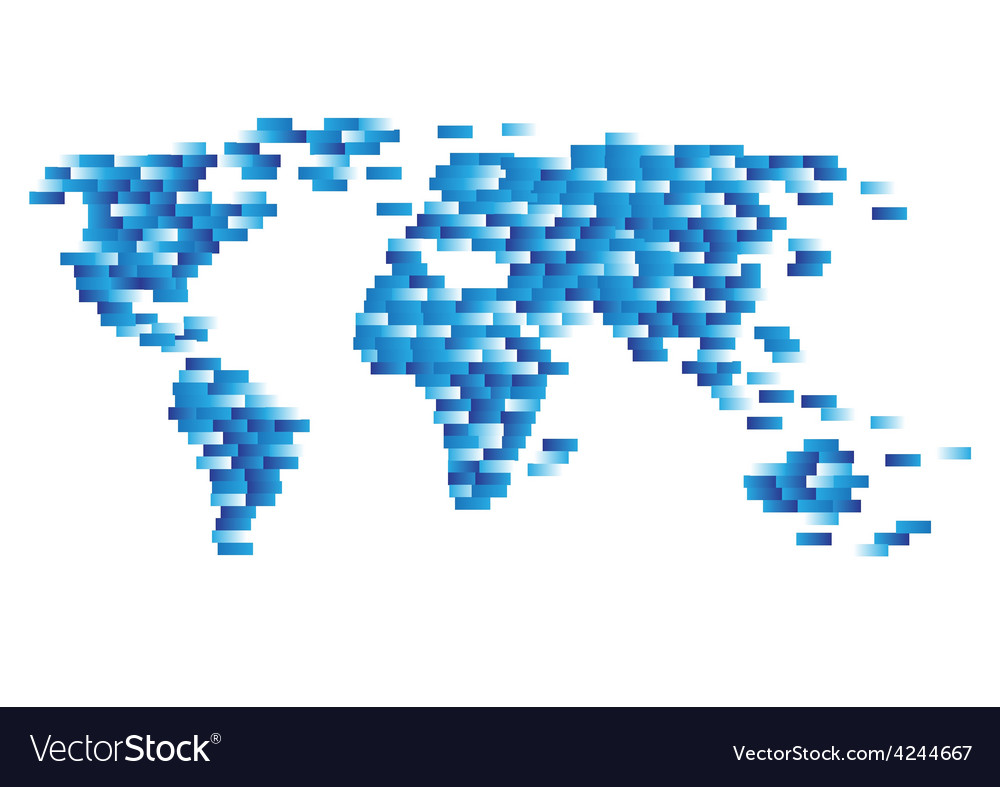 Abstract computer graphic world map vector | Price: 1 Credit (USD $1)