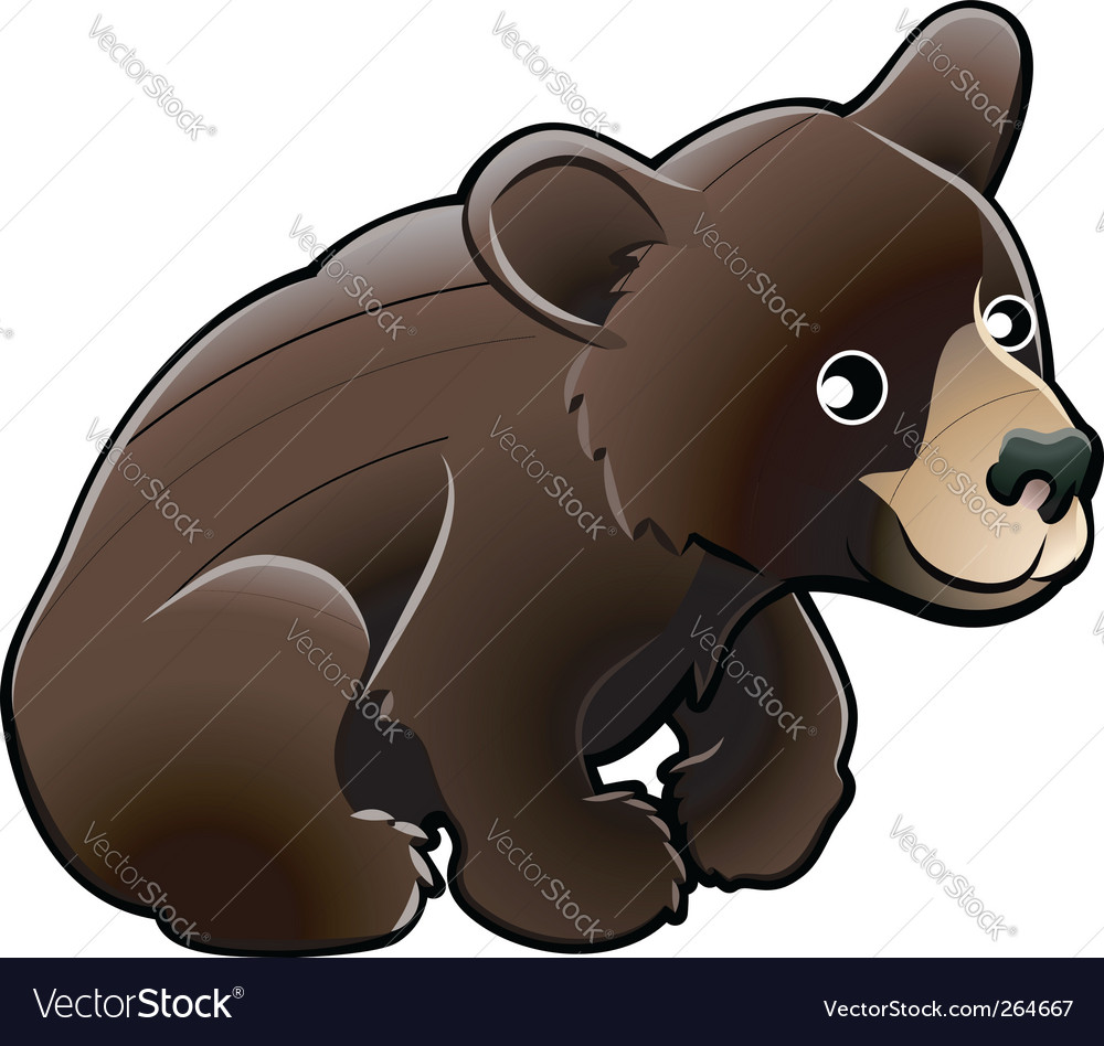 American black bear vector | Price: 1 Credit (USD $1)