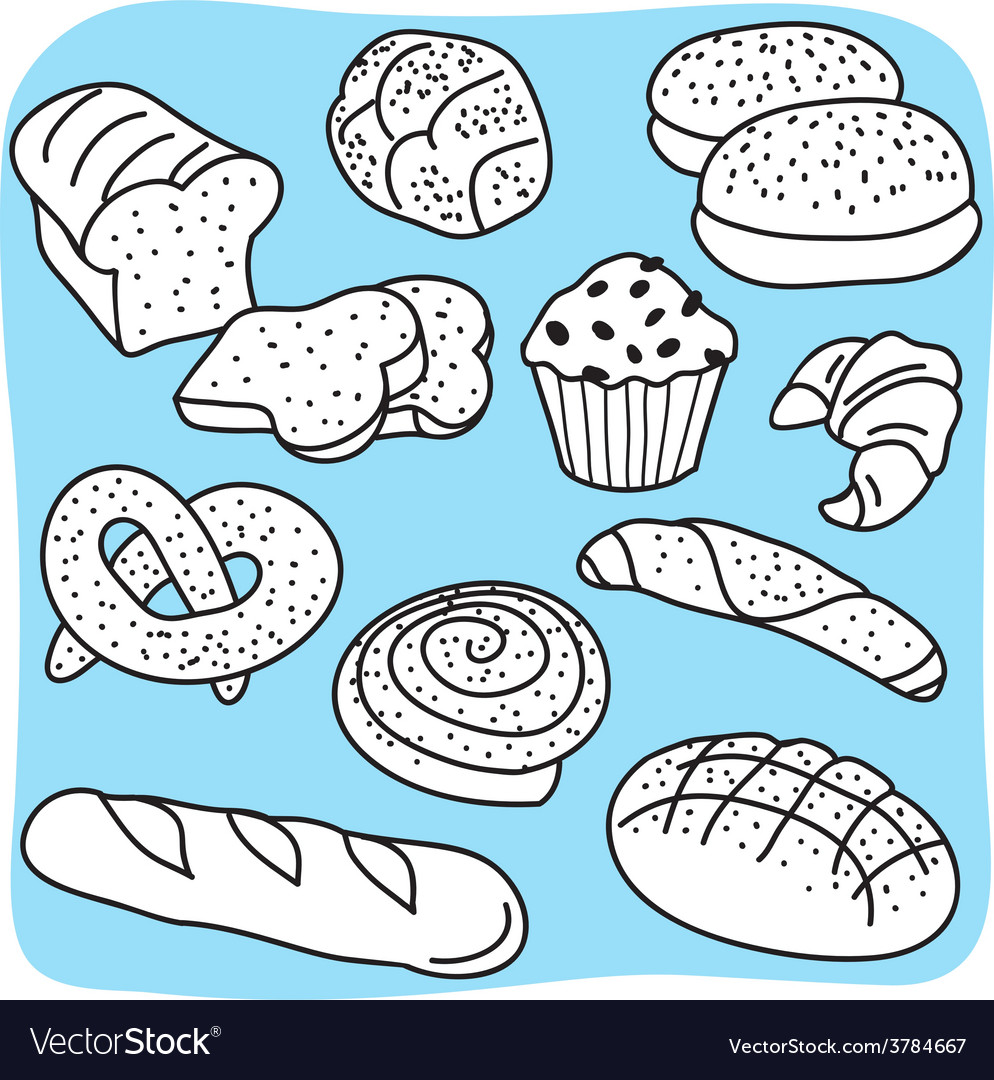 Bakery products vector | Price: 1 Credit (USD $1)