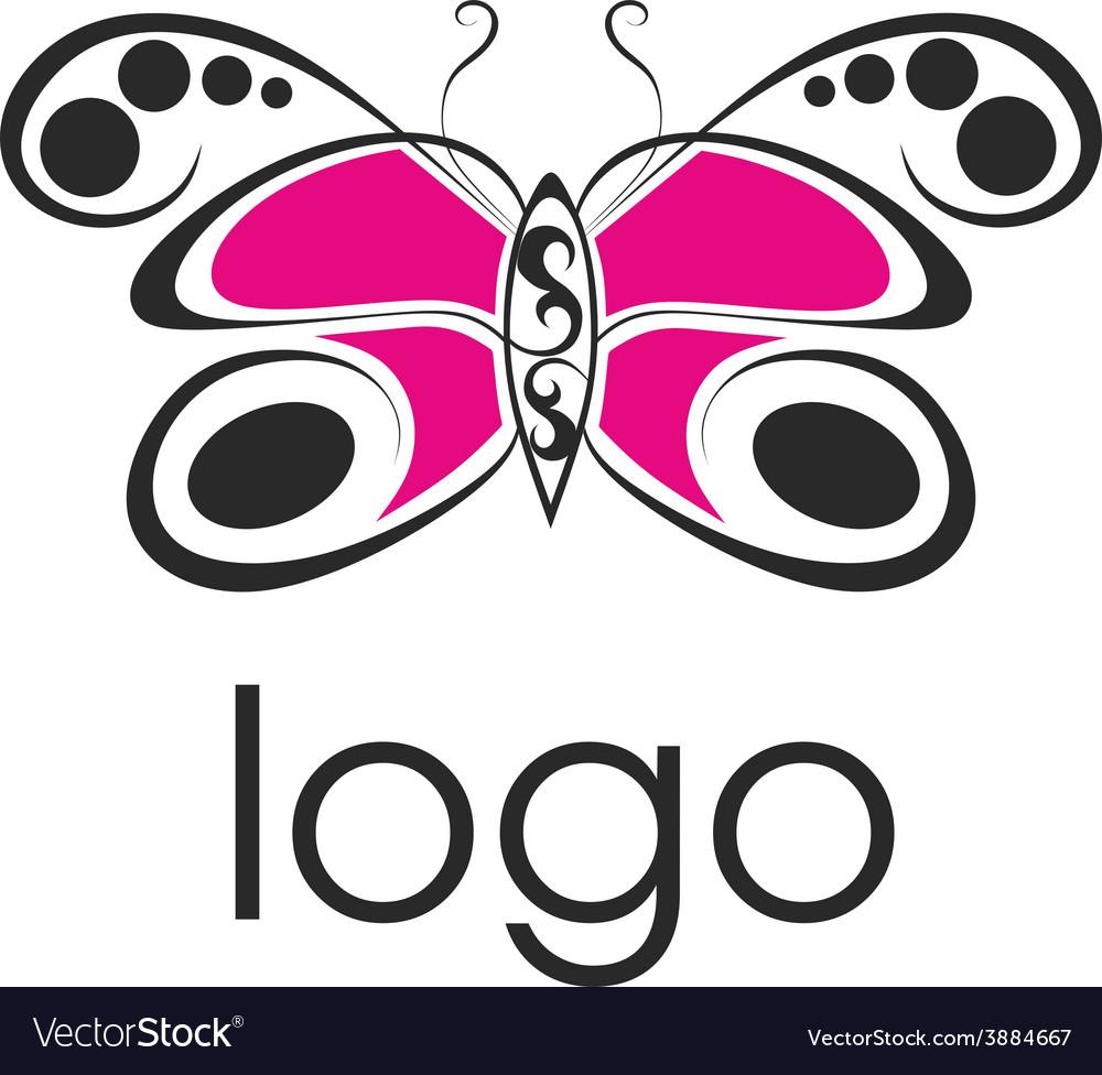 Beautiful butterfly logo vector