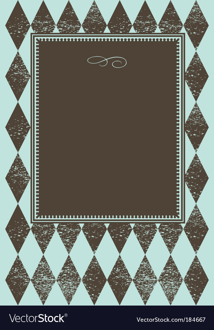 Checker pattern frame vector | Price: 1 Credit (USD $1)
