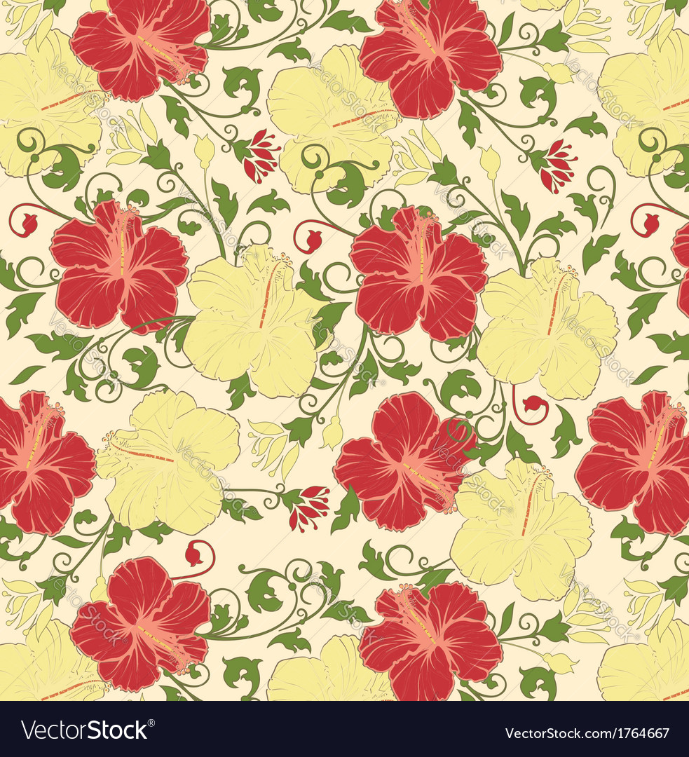Floral seamless pattern design vector | Price: 1 Credit (USD $1)