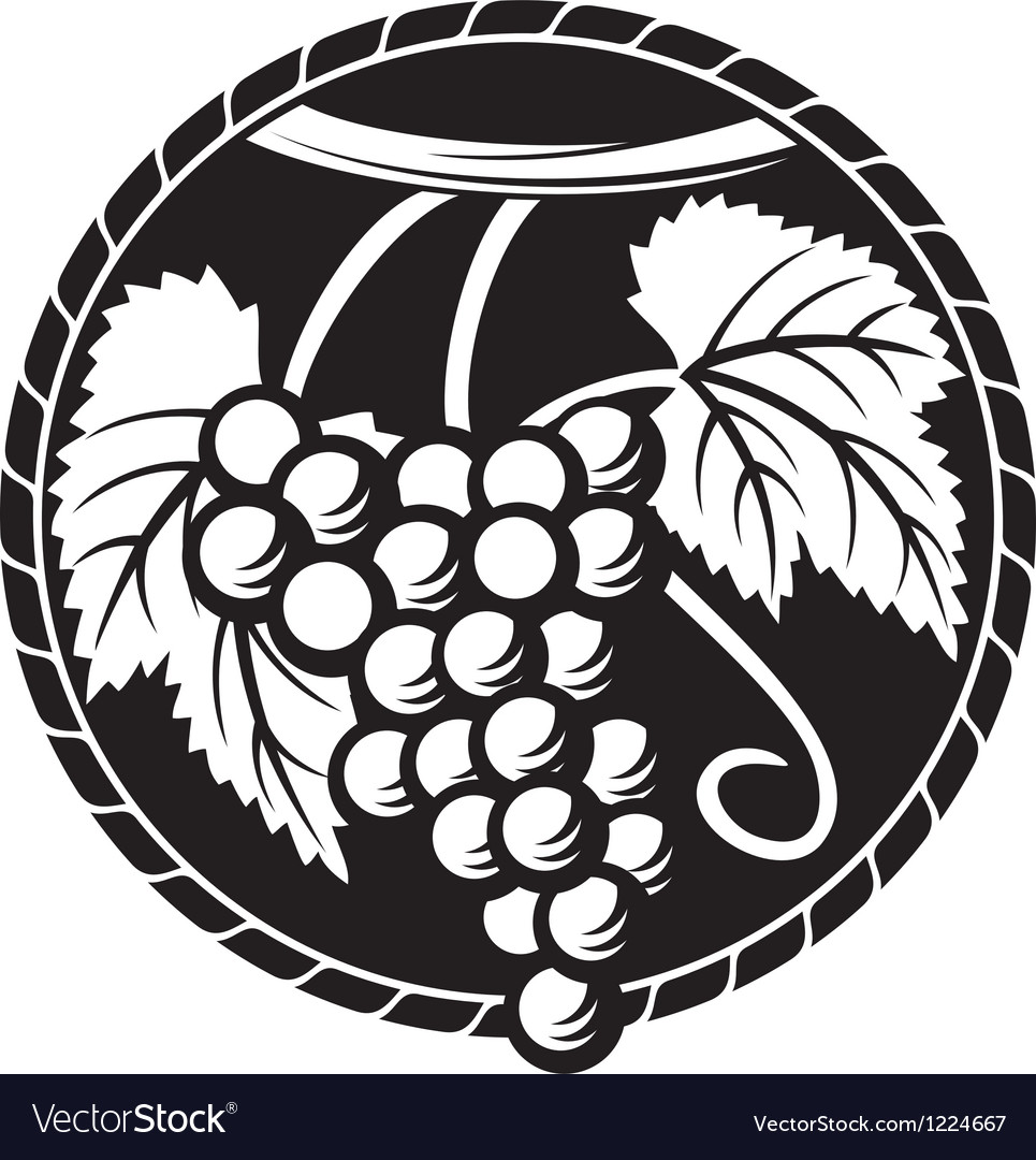 Grapes symbol vector | Price: 3 Credit (USD $3)