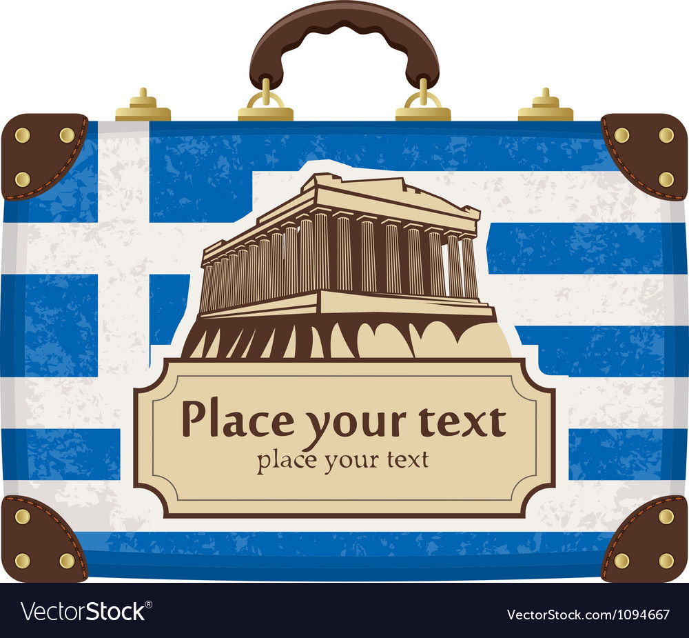 Greece and the acropolis vector | Price: 1 Credit (USD $1)