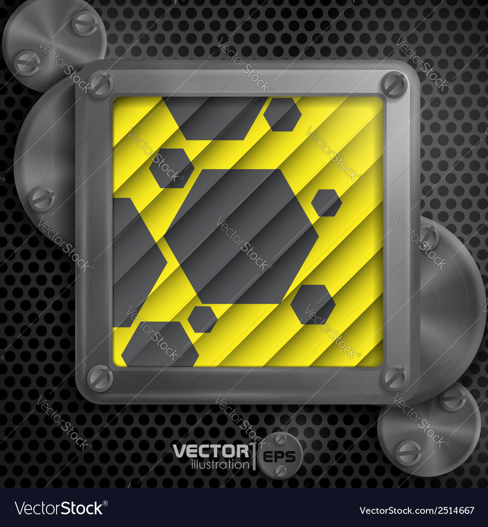 Metallic frame with screws vector | Price: 1 Credit (USD $1)