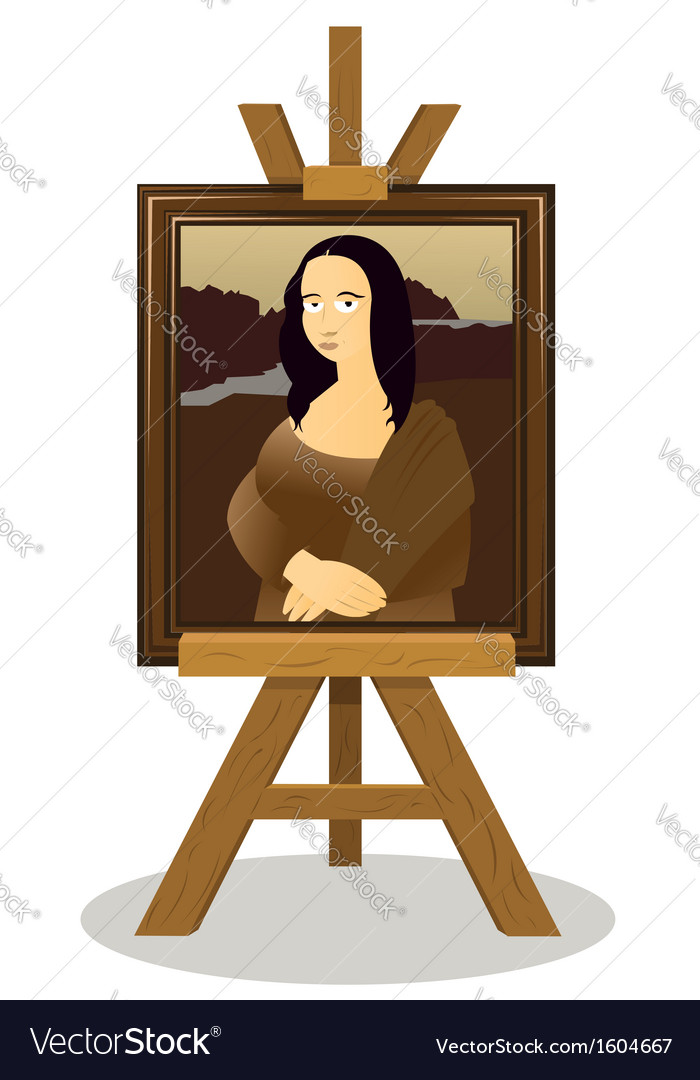 Mona lisa easel vector | Price: 1 Credit (USD $1)