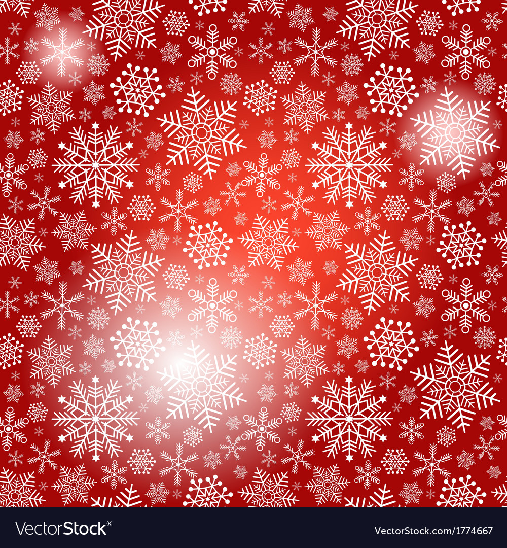 Seamless red christmas pattern vector | Price: 1 Credit (USD $1)