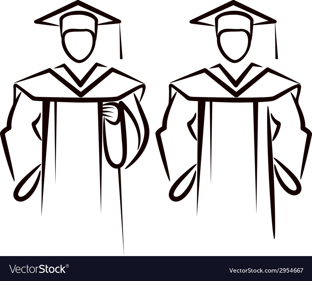 Simple with a graduate vector | Price: 1 Credit (USD $1)