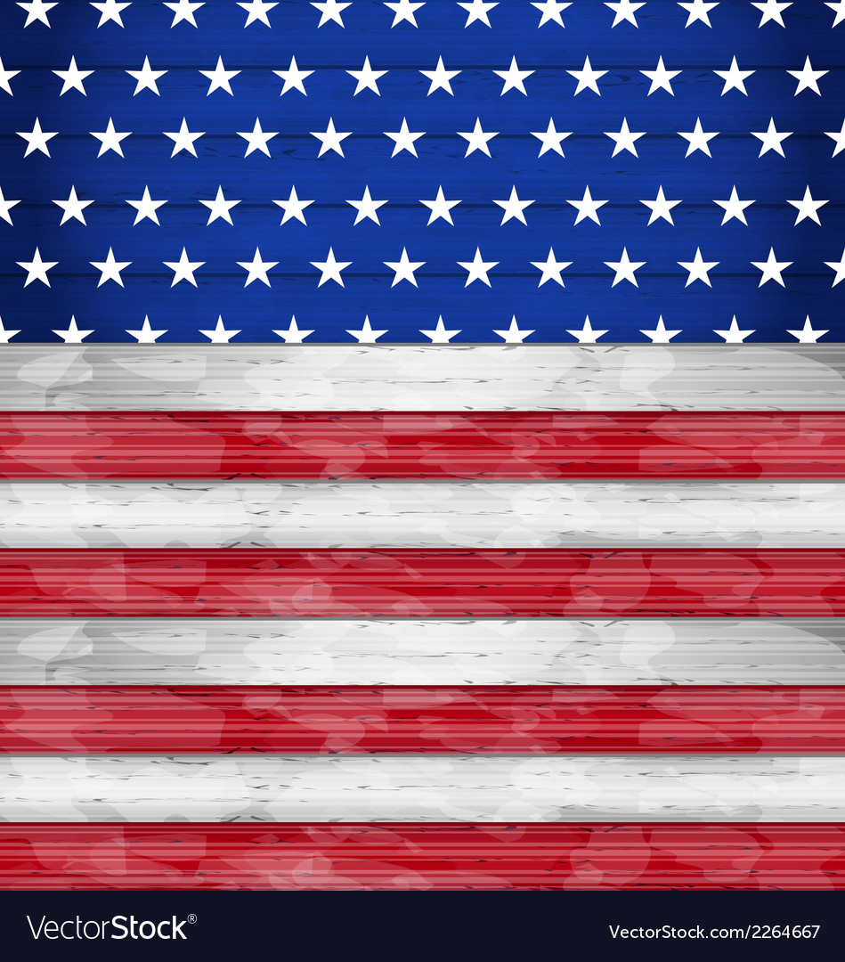 Wooden american flag for independence day vector | Price: 1 Credit (USD $1)